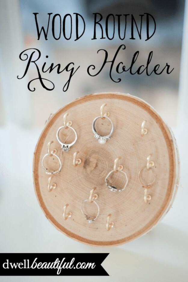 DIY Wood Round Ring Holder