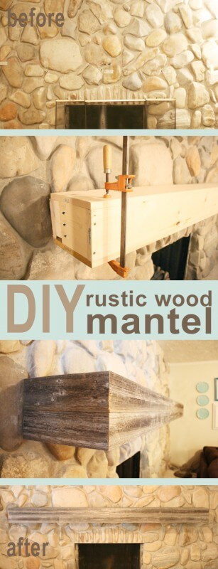Build A Rustic Mantle