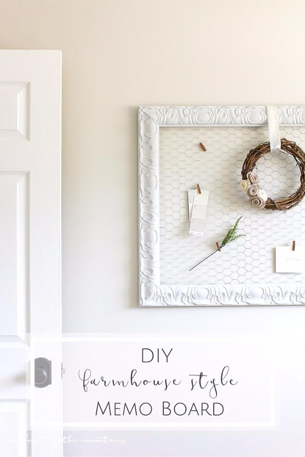 DIY Farmhouse Style Memo Board