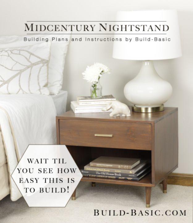 Midcentury Style Nightstand