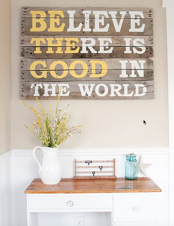 DIY Pallet Sign Quote