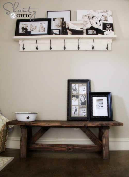 Rustic Bench DIY