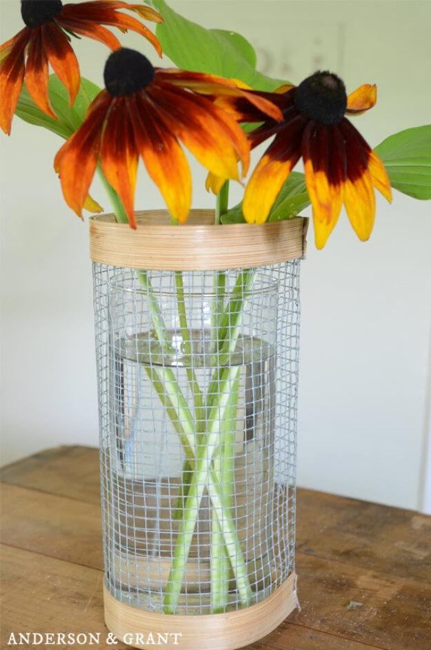 Hardware Cloth Vase