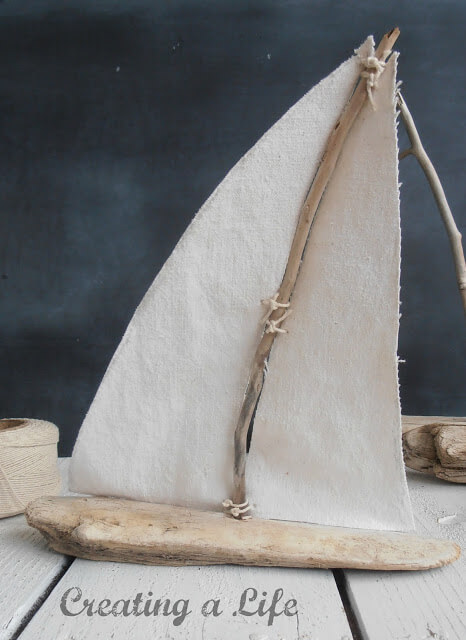 Crafty Driftwood Sailboats