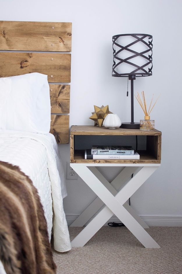 X Shaped Nightstand