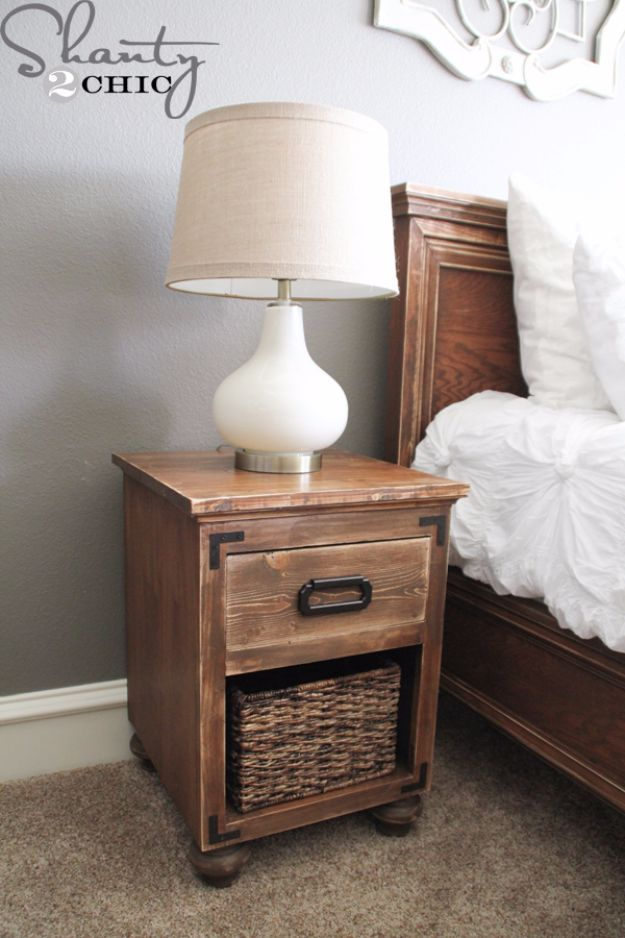 Diy Nightstand With Bun Feet