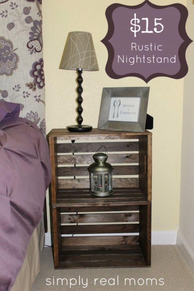 15 Rustic Nightstand