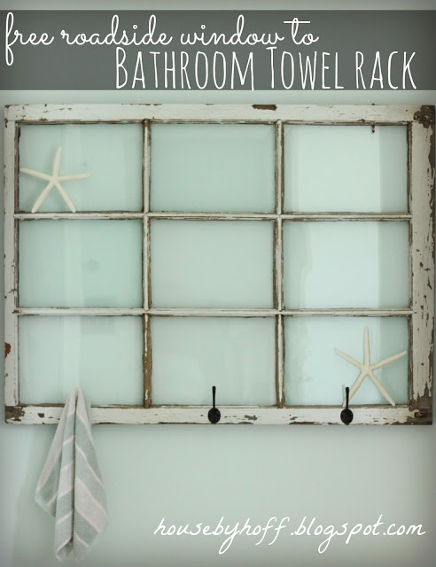 Bathroom Towel Rack Window