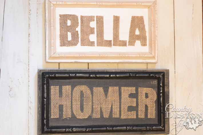 Burlap Cutout Signs