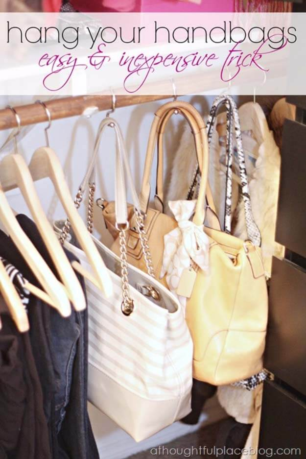 How To Hang Handbags
