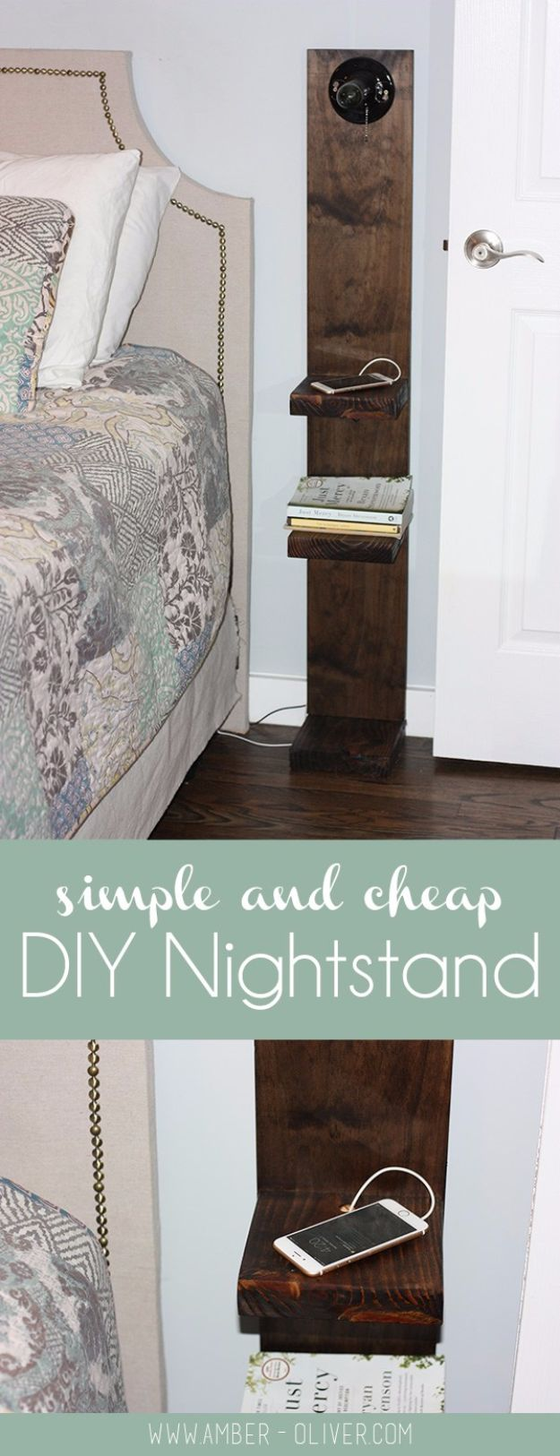 Diy Nightstand With Lighting