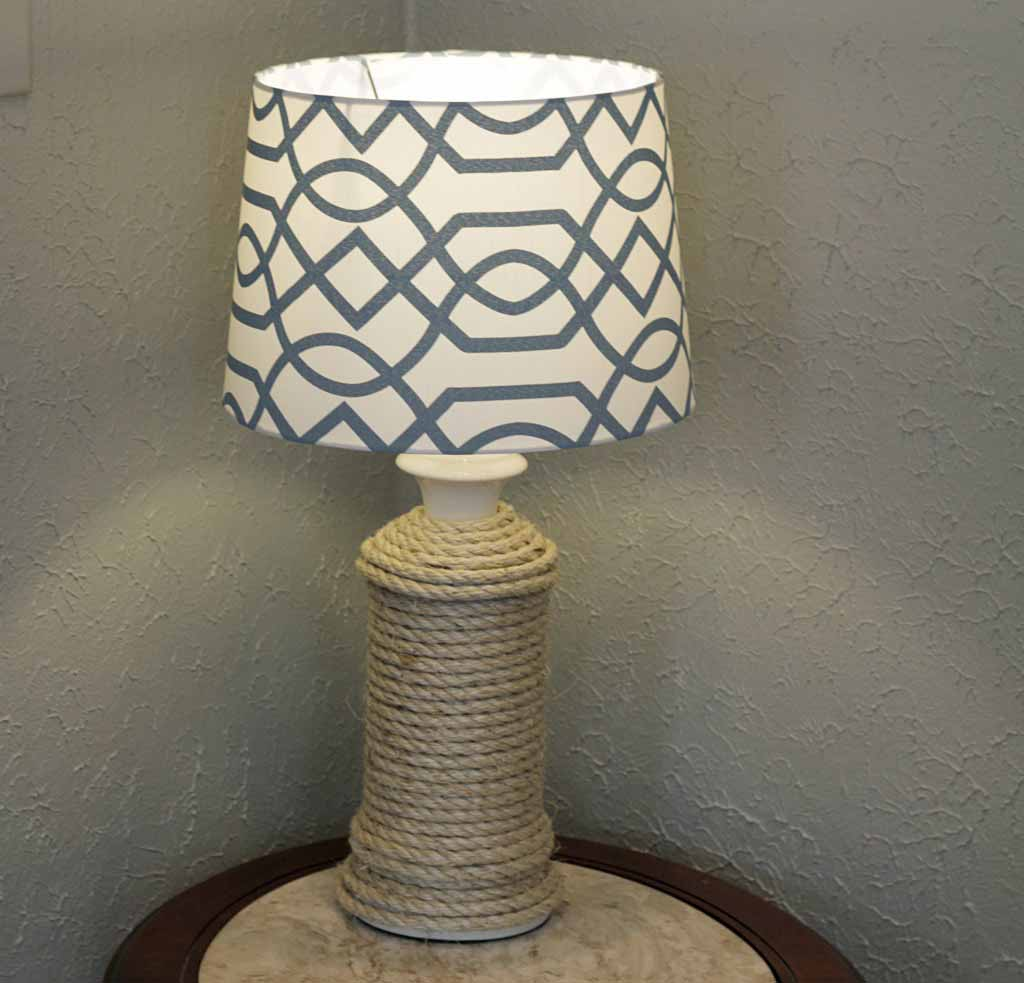 Rope Wrapped Lamp