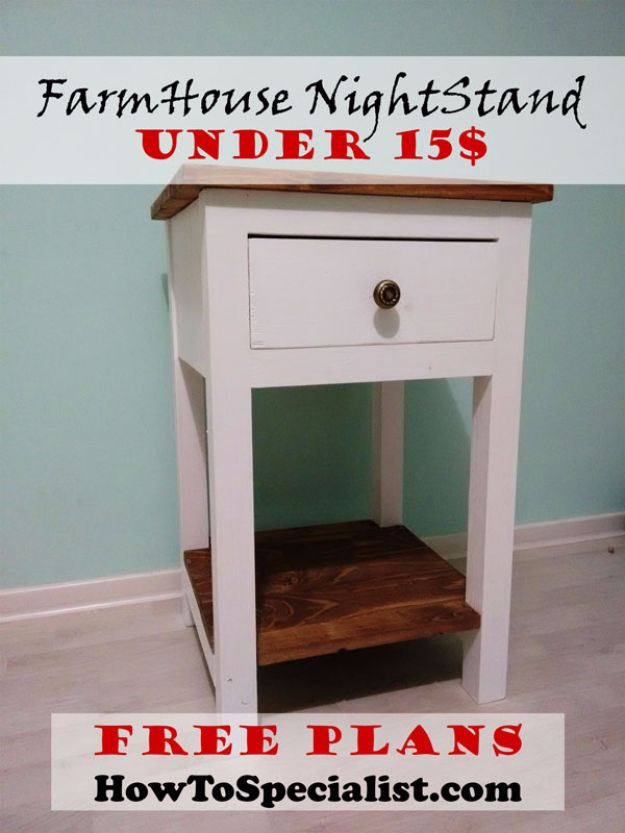 Farmhouse Nightstand Under 15