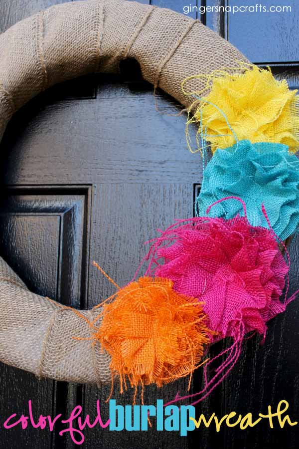 Burlap Rose Wreath