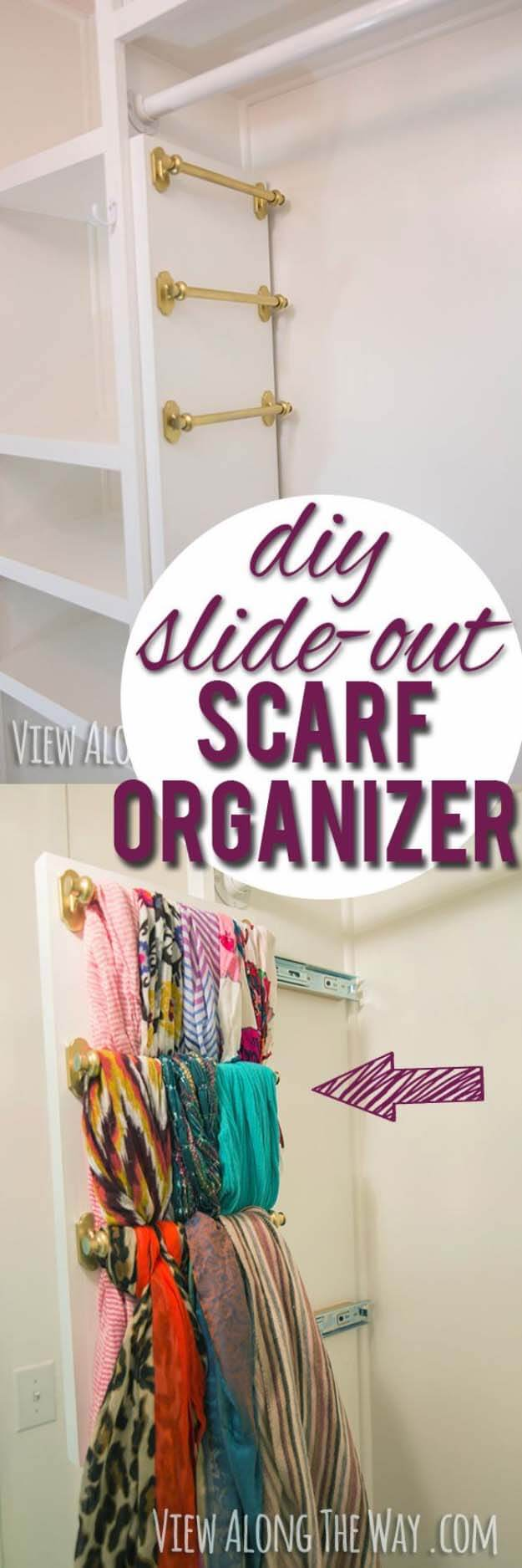 DIY Slide-Out Scarf And Belt Organizers