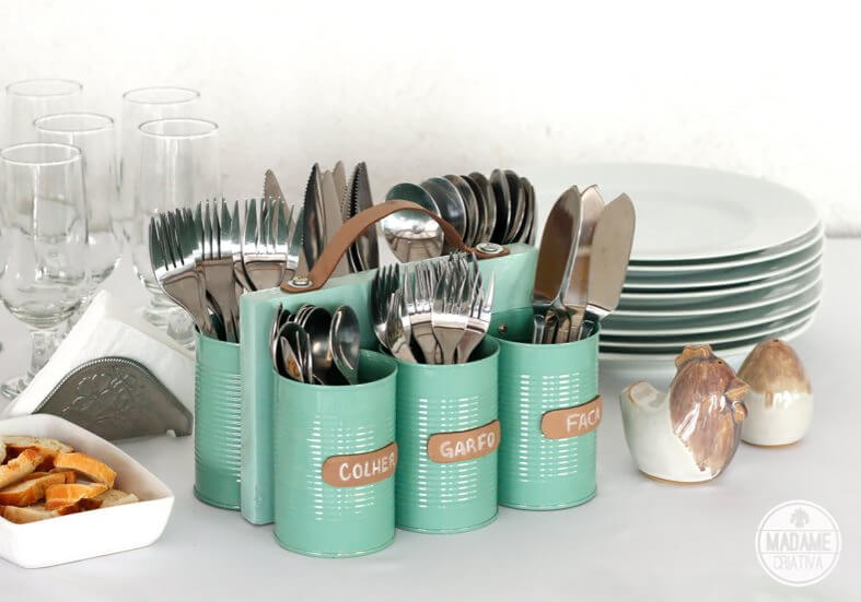 Upcycled Utensil Caddy