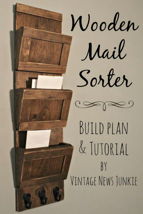 Wooden Mail Sorter