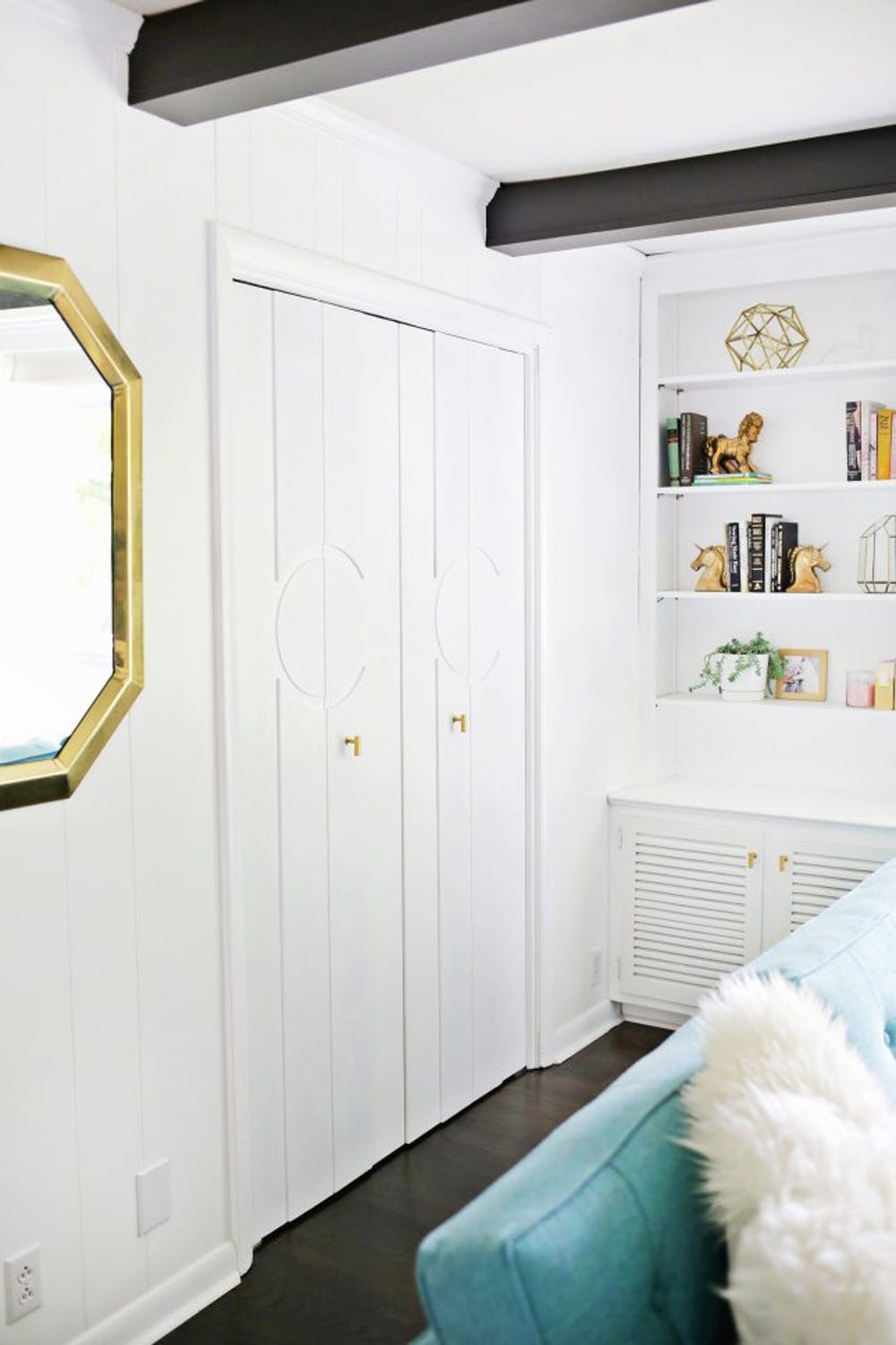 DIY Geometric Closet Panels