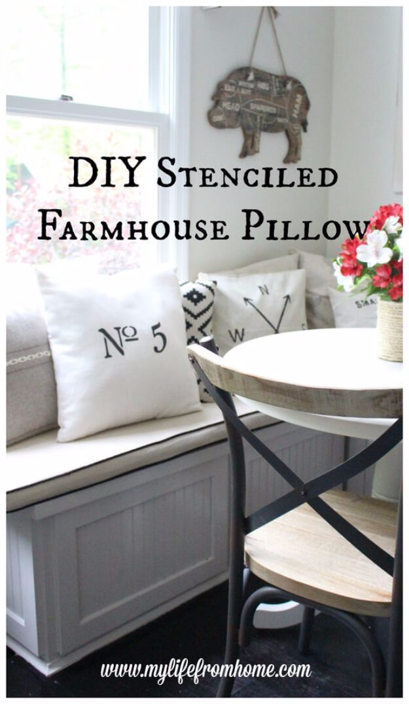 Farmhouse Stenciled Pillow