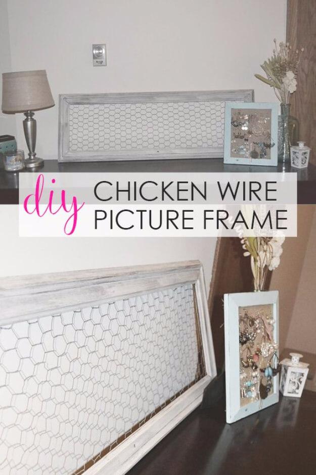 DIY Chicken Wire Picture Frame
