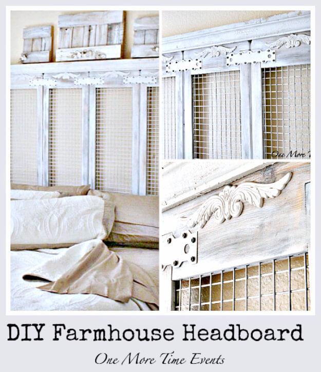 DIY Farmhouse Headboard