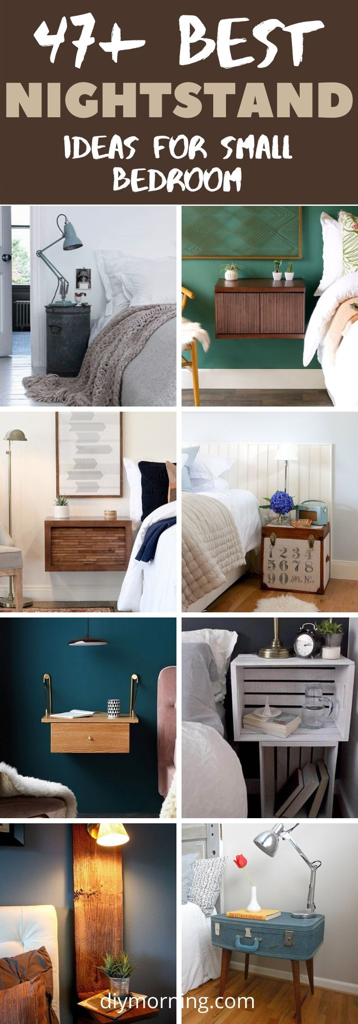 47 Best Diy Nightstands For Your Bedroom Diy Morning
