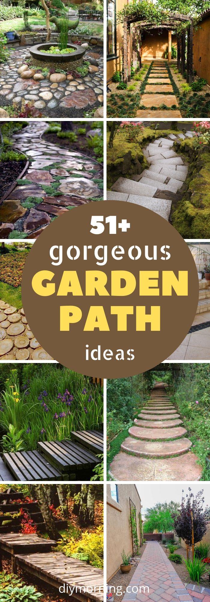 46 Easy Garden Path Ideas For