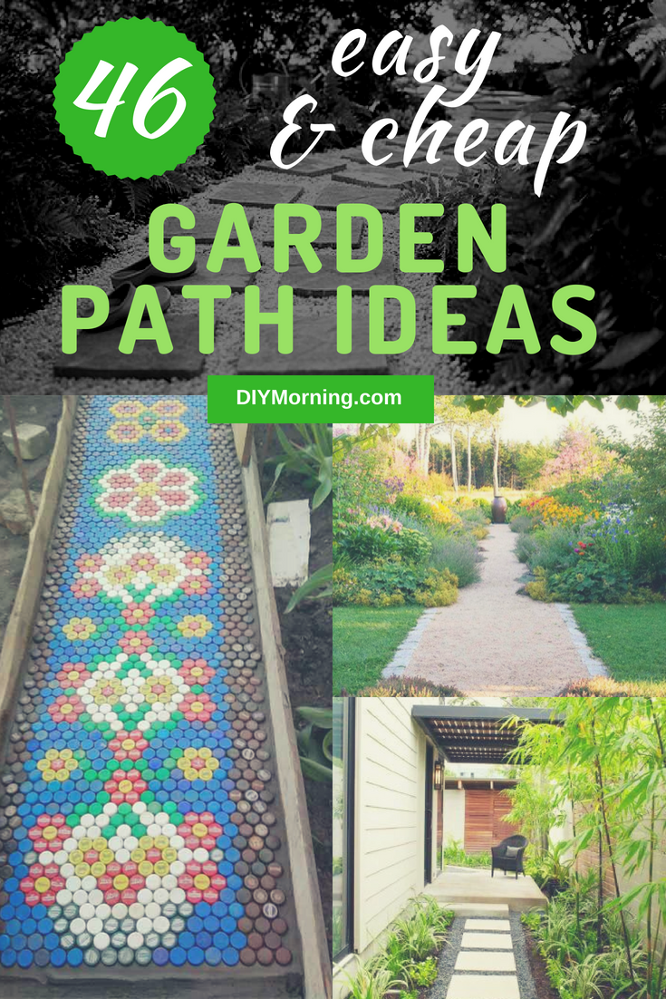 46+ Easy and Cheap Garden Path Ideas That You Can Follow #gardenideas #gardenpath #landscaping