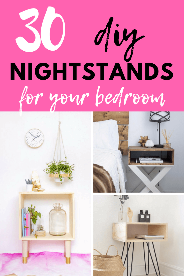 Try making one of these 35 e awesome modern nightstands that will brighten up your room. The supplies to make these nightstands are much cheaper than to buy your own from a store. You can also take pride in telling people you made them. I made one of these nightstands a while back and I had was so much fun.