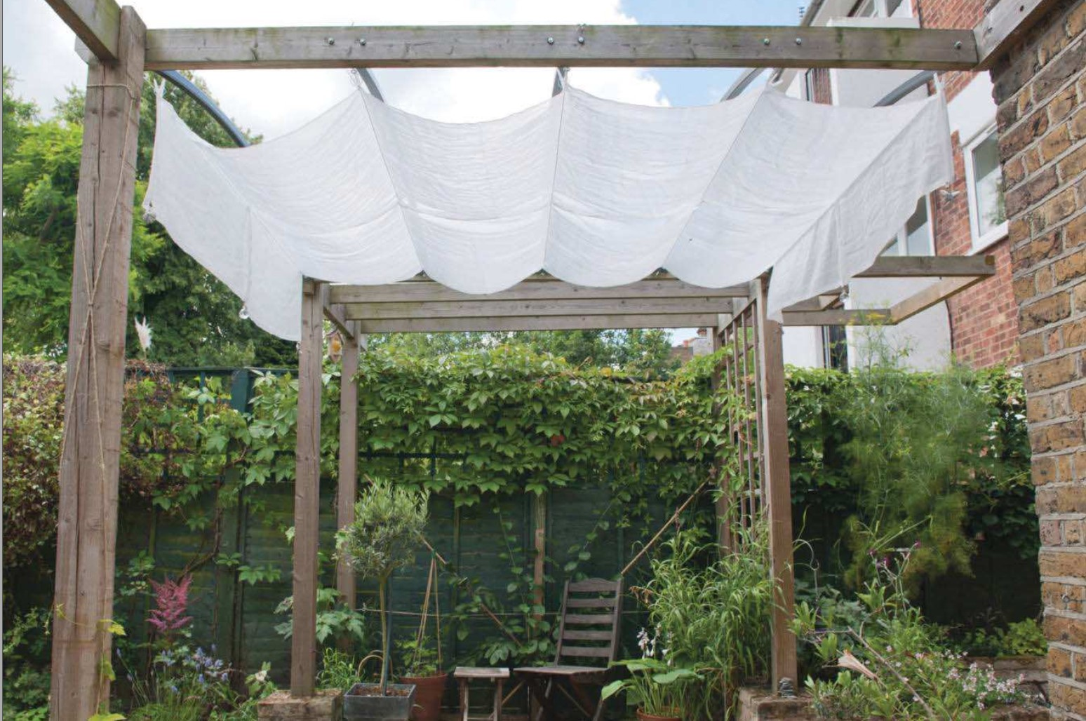 DIY Patio Canopy: How To Build A Simple & Cheap DIY Canopy