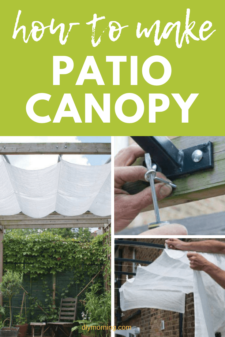 How To Make Diy Patio Canopy Step By Step #patio #diy #diymorning