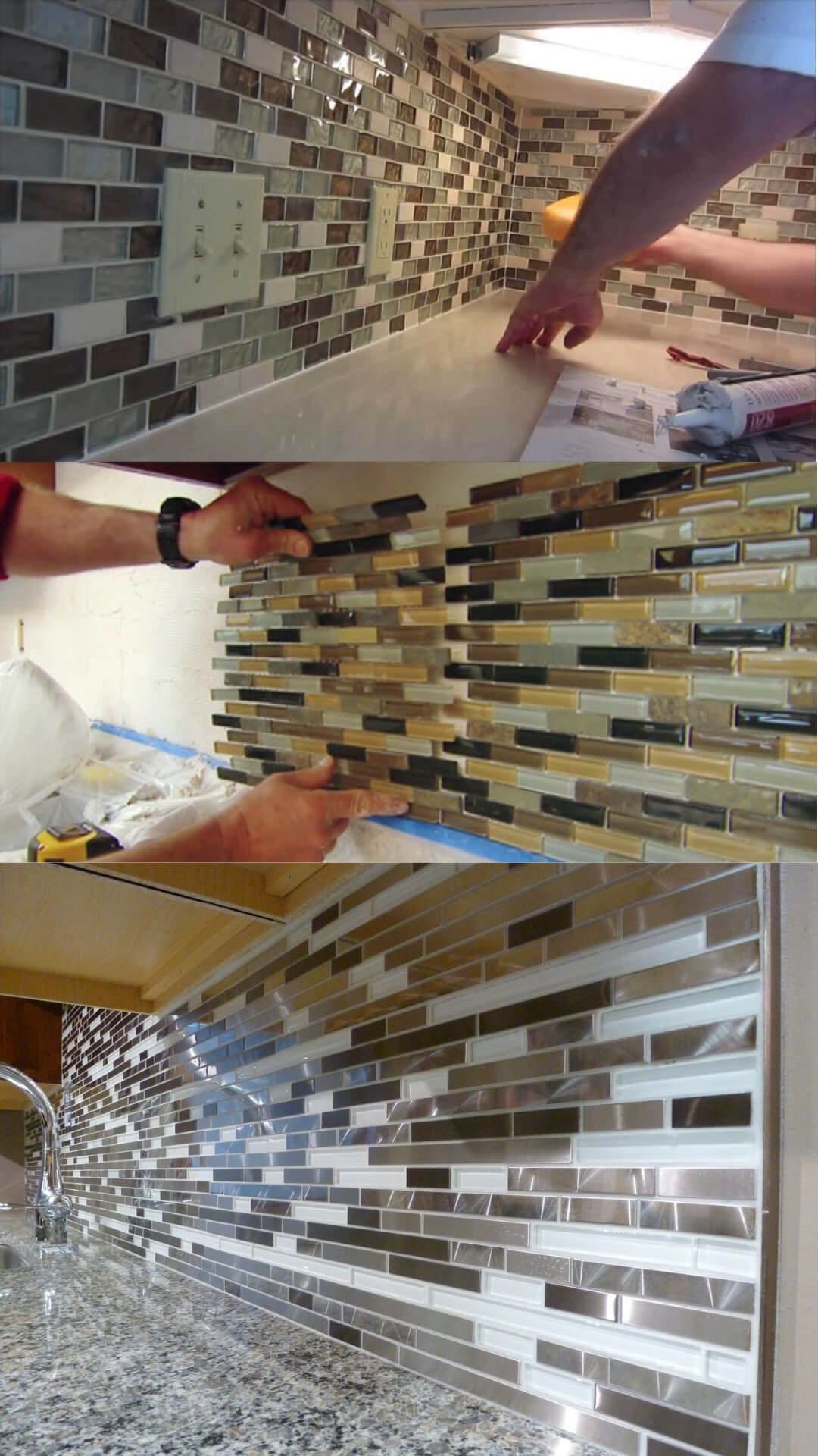 Laying the Tile for a Kitchen Backsplash | Creating a Ceramic Tile Mosaic for a Kitchen Backsplash