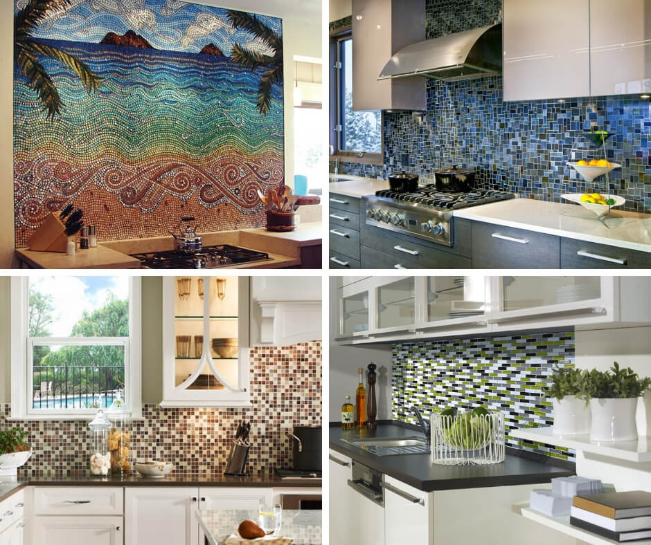 19+ Ceramic Tile Mosaic Kitchen Backsplash Designs & Ideas ...