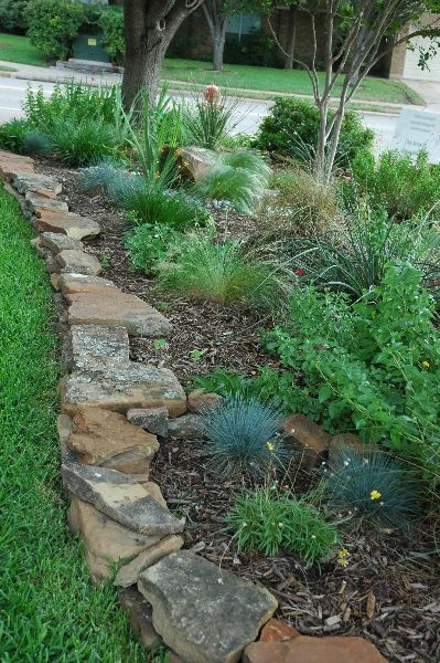 Stone Garden Edging | Garden Edging Ideas | DIYMorning.com