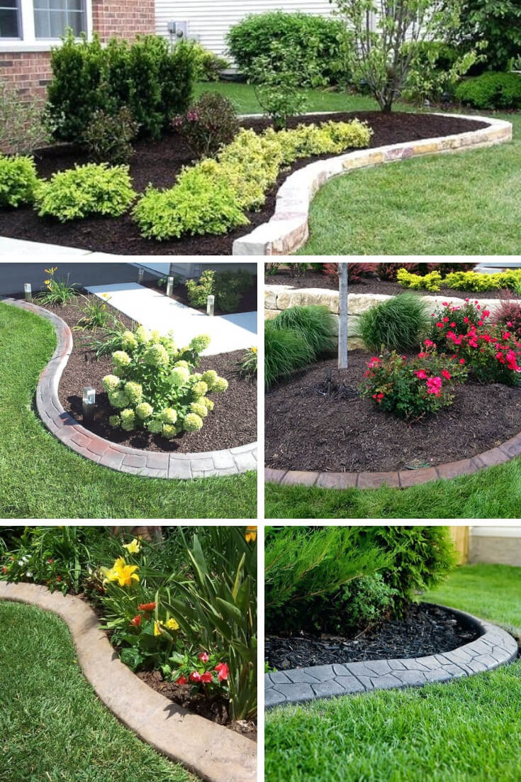 21+ Brilliant & Cheap Garden Edging Ideas With Pictures ... on Backyard Border Ideas id=37528