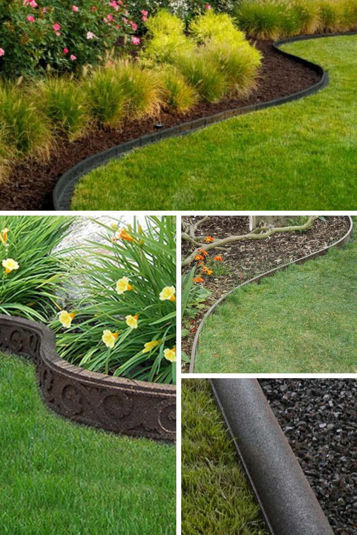 Natural or Recycled Lawn Edging | Garden Edging Ideas | DIYMorning.com