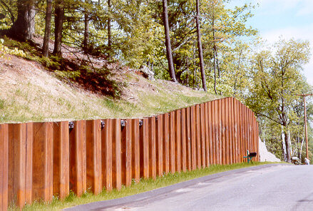 Sheet Pilling Retaining Walls