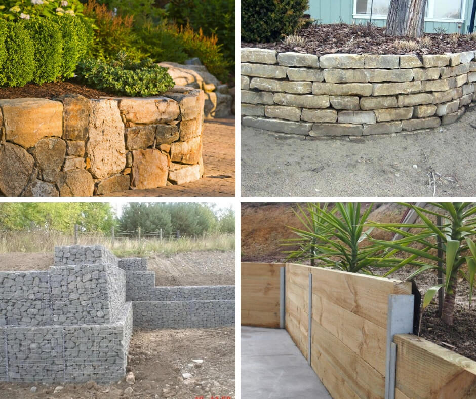 Different types of retaining walls