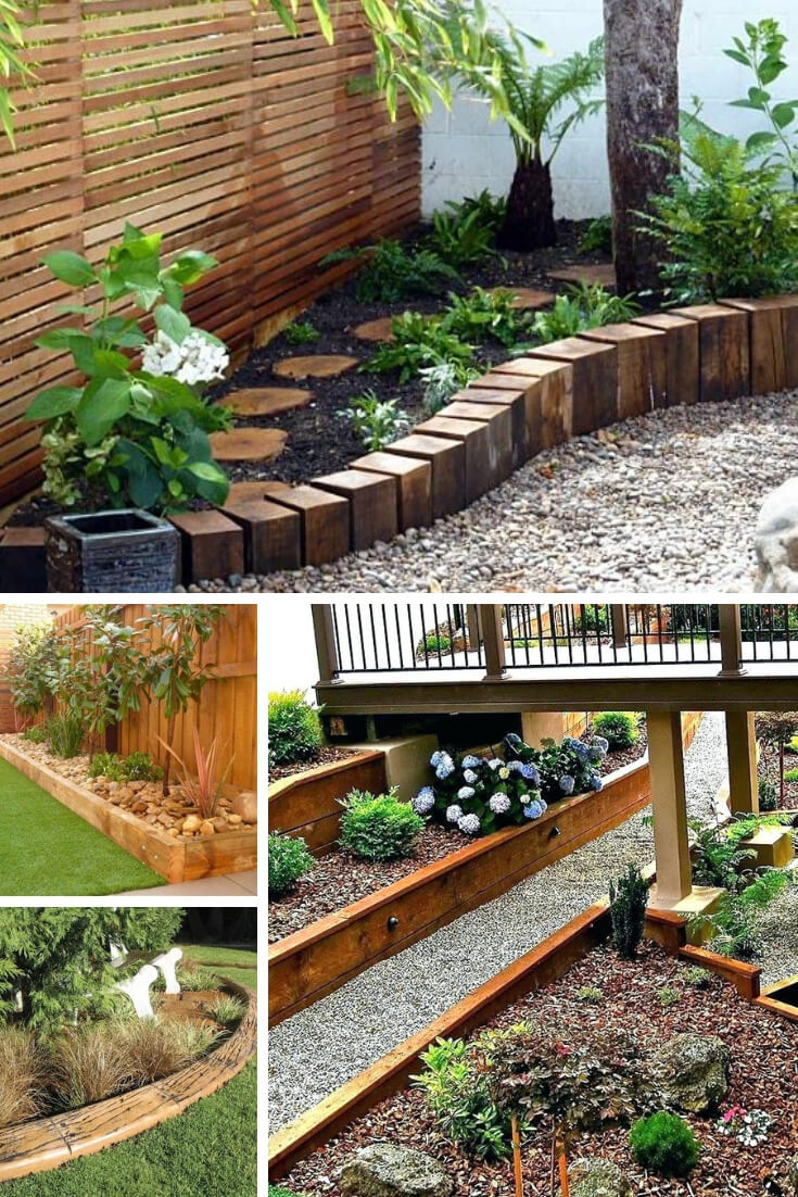 Wood Edging | Garden Edging Ideas | DIYMorning.com