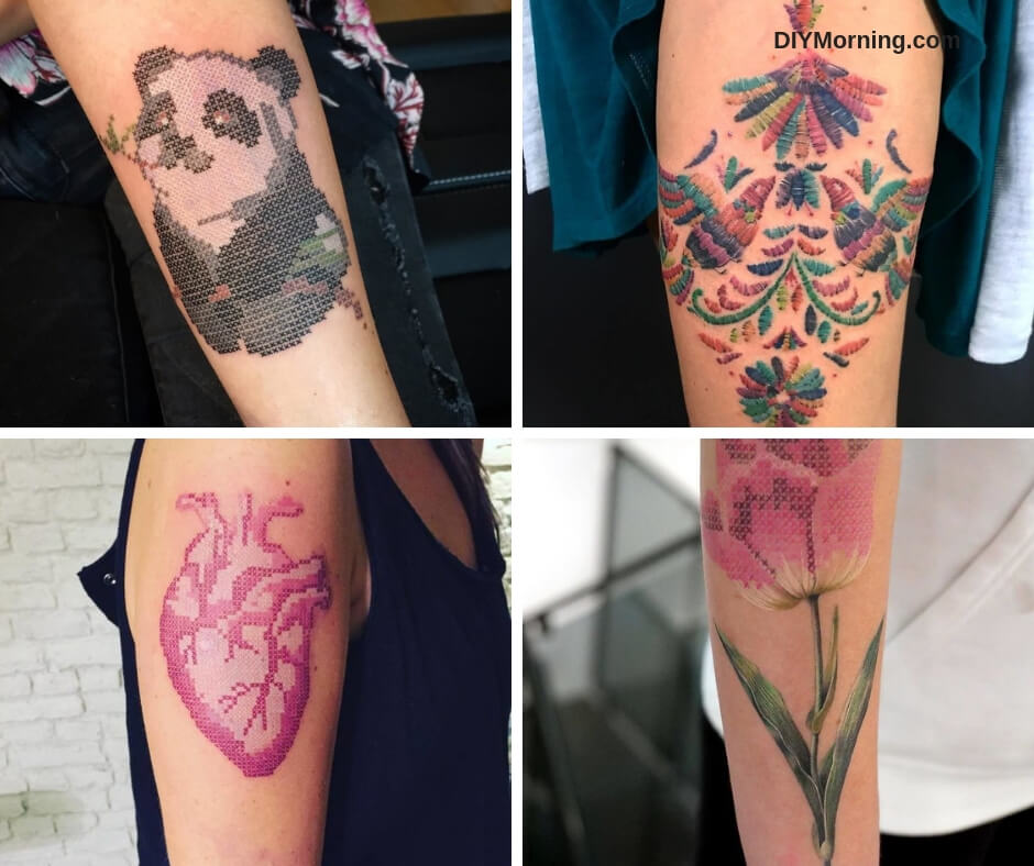 15 Tattoos With an Embroidered Effect That Even Your Grandmother Will Want To Have