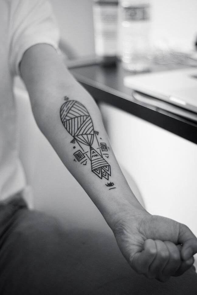 Geometric combination tattoo