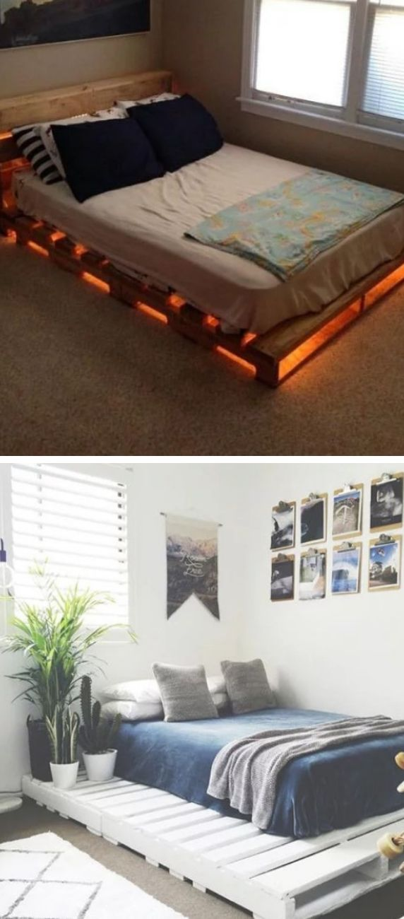Beds with pallet bases.