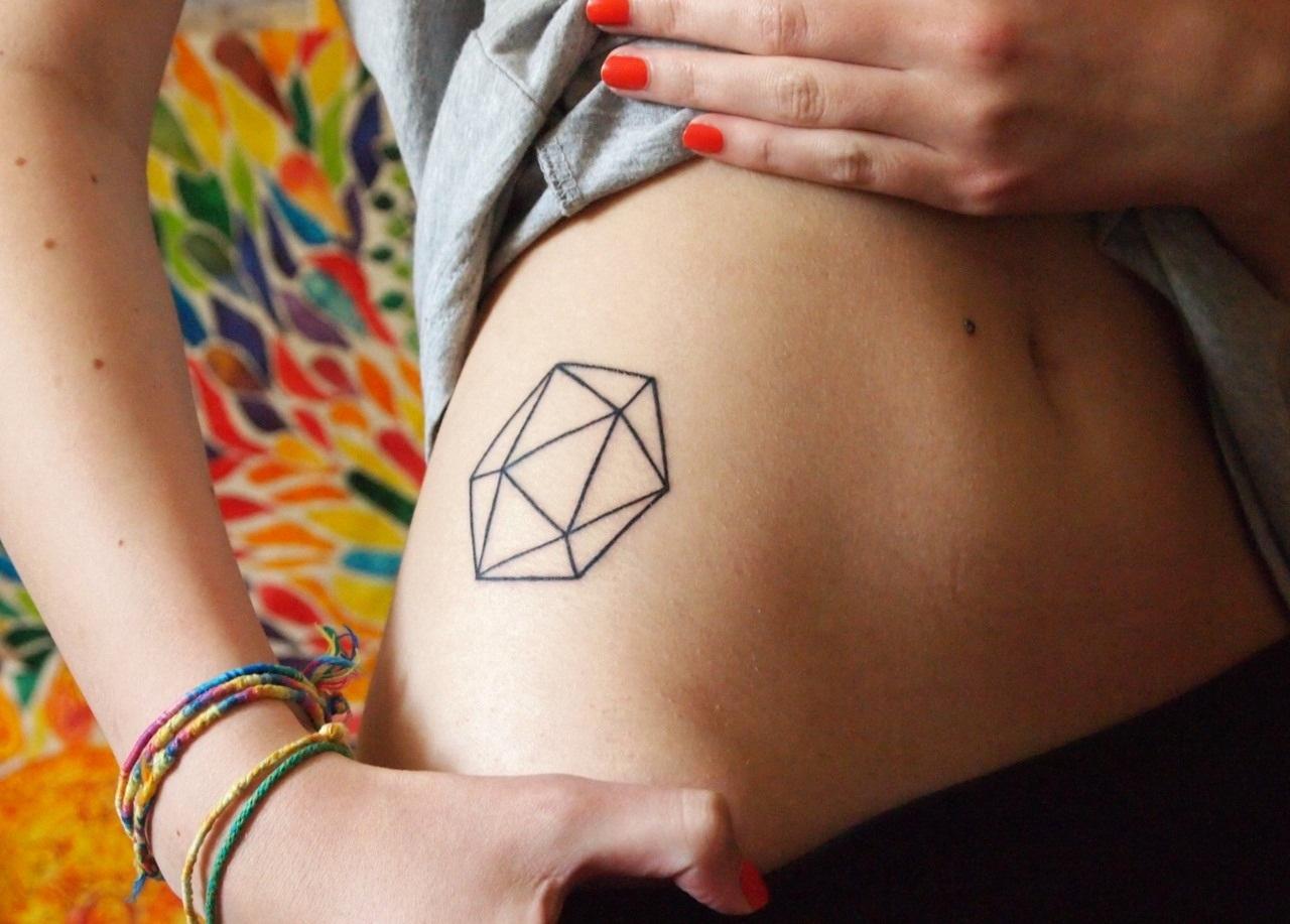 Hexagon tattoo