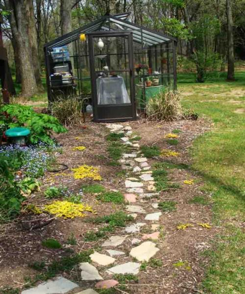 Garden Stone Path Less Than One Year After Installation