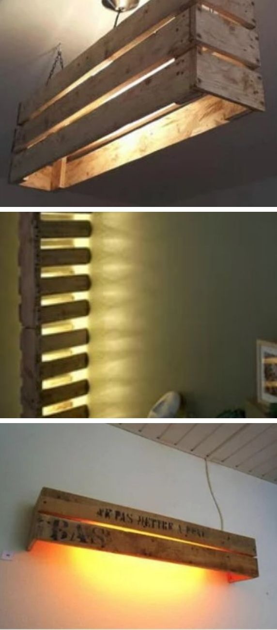 Lamps made with pallets.