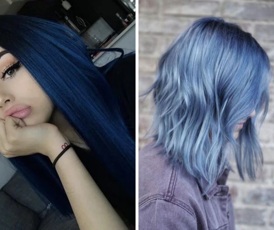 15 Styles of blue hair for a marine touch in your look
