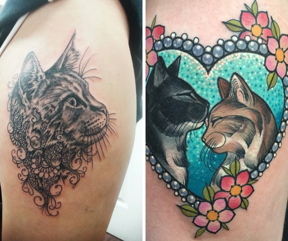 30 Cat Tattoos that every lover of the Feline will love