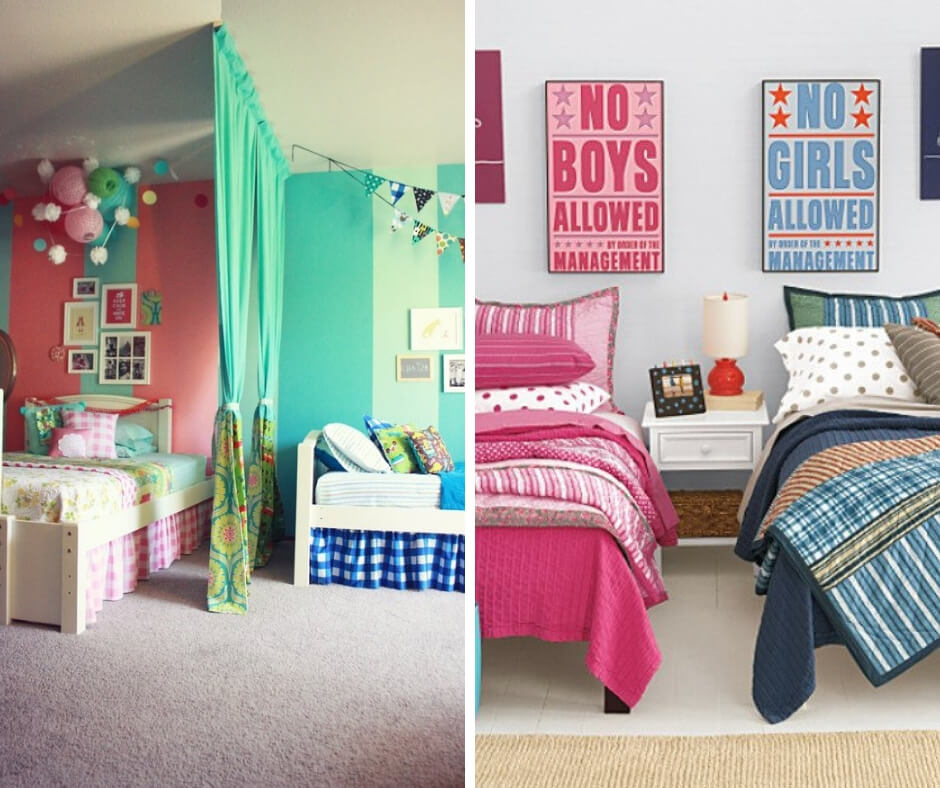 22 Amazing ideas to decorate a bedroom shared by girl and boy