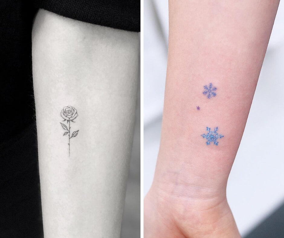 15 Tattoos so small and cute you'll have to use a magnifying glass to see them