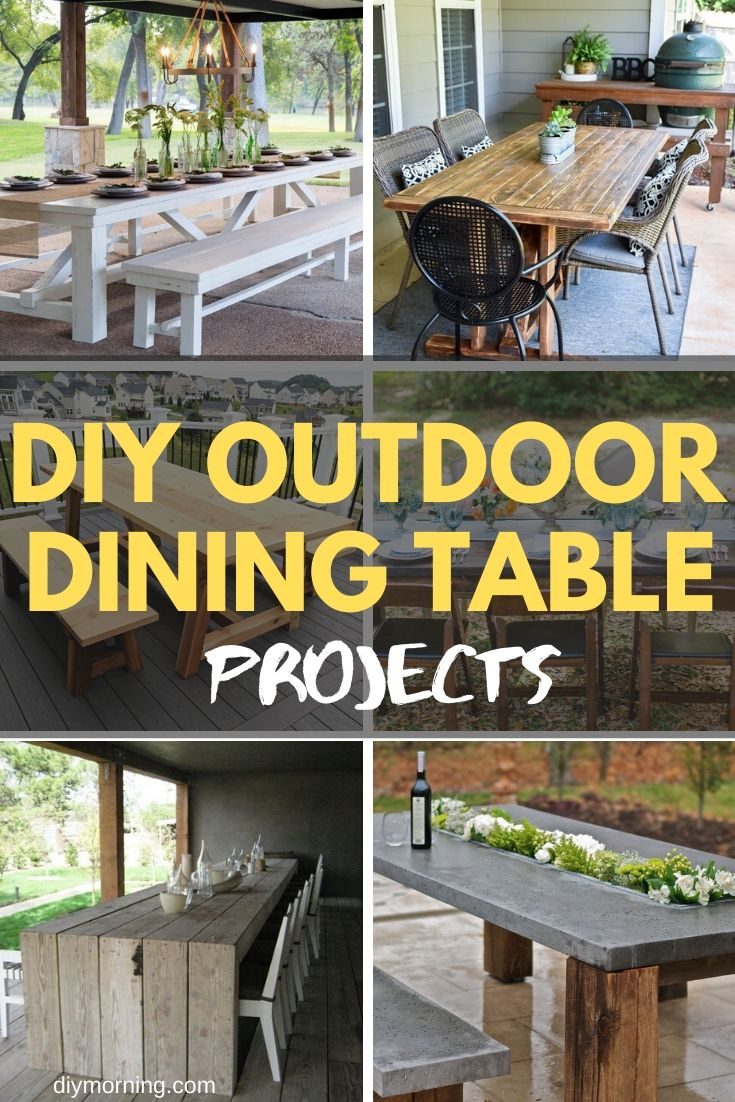 25 Brilliant Diy Outdoor Dining Table Ideas And Projects With Plans